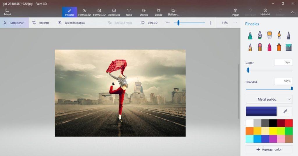 imagen con fondo transparente en paint 3d